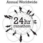runathon'11 globe only logo black on white background 9-1--11